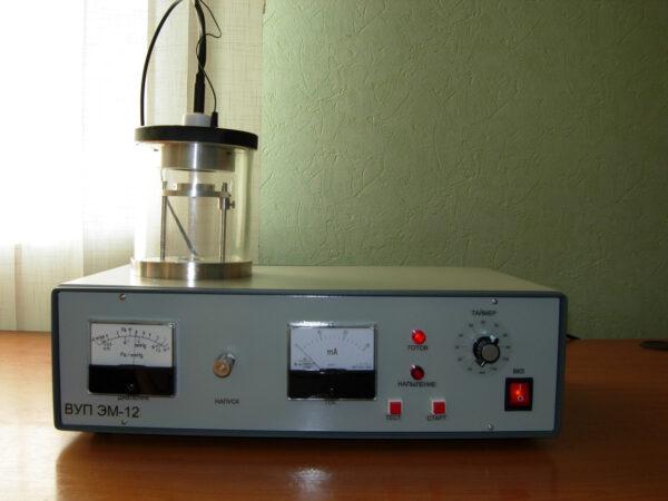 Компактная настольная вакуумная напылительная установка ВУП ЭМ-12